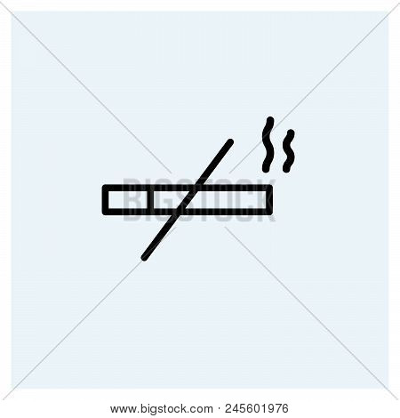 No Smoking Icon Vector Icon On White Background. No Smoking Icon Modern Icon For Graphic And Web Des