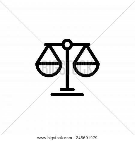 Law Scale Vector Icon On White Background. Law Scale Modern Icon For Graphic And Web Design. Law Sca