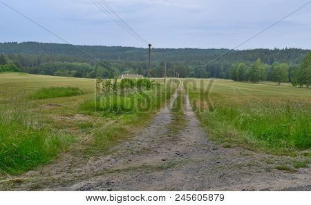 View Of Spring Landscape, Southern Bohemia . Czech Republic