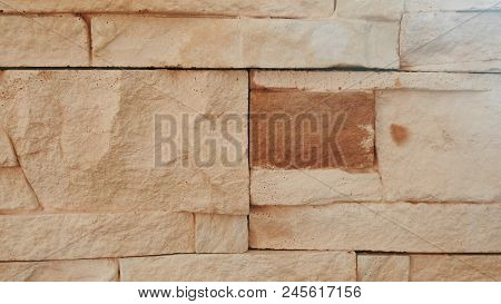 Brick Terracotta Wall Texture. Abstract Backgrounds Concept