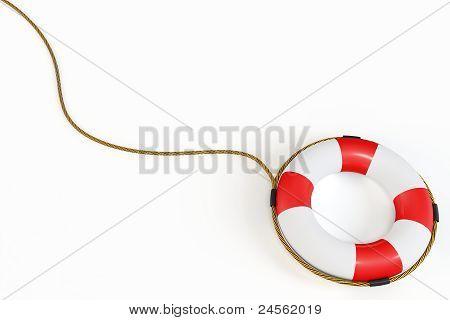 3D Red Lifebelt  Illustration