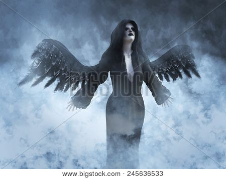 3D Rendering Of A Death Angel.