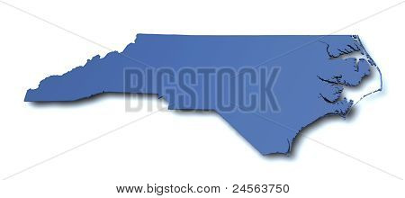 Map of North Carolina- USA