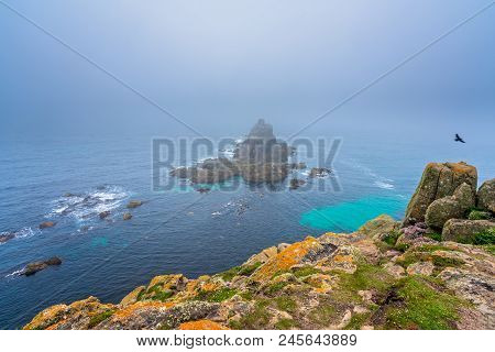 Landscape Of The Lands End - The Most Westerly Point Of England Which Is A Popular Tourist Attractio