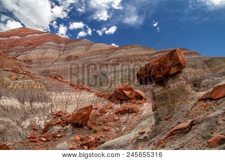 Amazing Close-up If The Colorful Layers And Rock Formations Of Grand Staircase-escalante National Mo