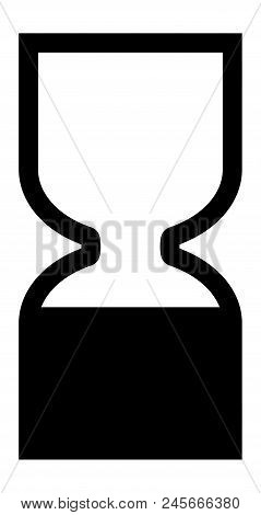 Cosmetics Products Best Before End Of Date Bbe Symbol. Black Hourglass Icon.
