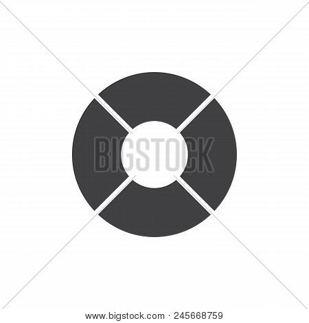Lifebuoy Vector Icon. Filled Flat Sign For Mobile Concept And Web Design. Life Preserver Simple Soli