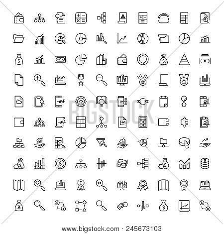 Financial Icon Set. Collection Of High Quality Black Outline Logo For Web Site Design And Mobile App
