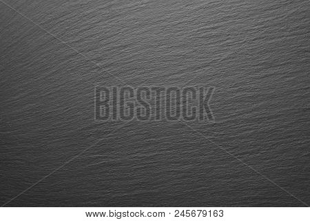 Top View Of Natural Gray Slate Background
