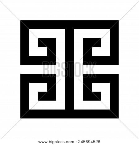 Typical Egyptian, Assyrian And Greek Motives Vector Symbol. Greek Key. Arabic Geometric Islamic Art.