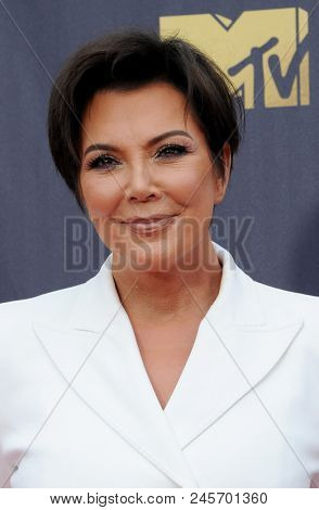 Kris Jenner at the 2018 MTV Movie And TV Awards held at the Barker Hangar in Santa Monica, USA on June 16, 2018.