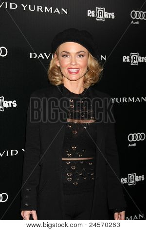 LOS ANGELES - OCT 18:  Kelly Carlson arriving at the PS Arts 20th Anniversary Event at the Sunset Tower Hotel on October 18, 2011 in West Hollywood, CA