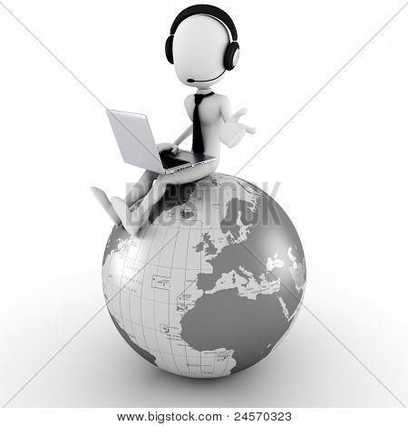 3d man online call center