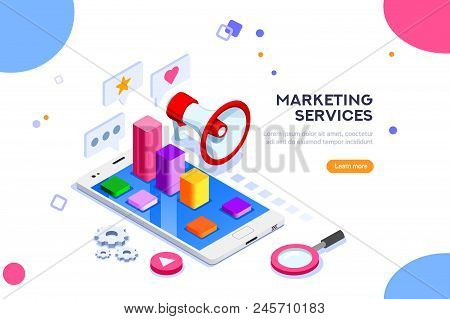 Agency And Digital Marketing Concept. Social Media For Web. Can Use For Web Banner, Infographics, He