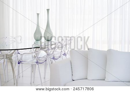 White Room With Table.