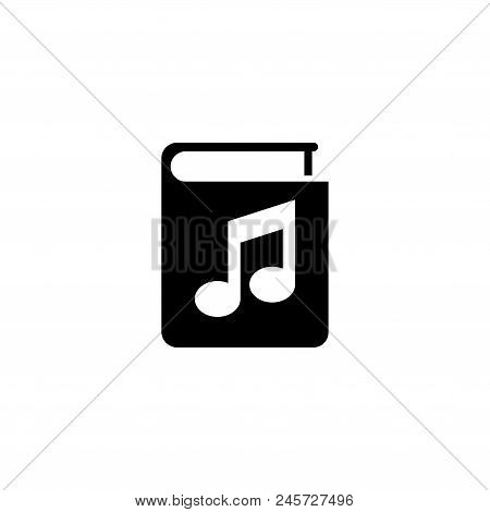 Audio Book, Ebook. Flat Vector Icon Illustration. Simple Black Symbol On White Background. Audio Boo