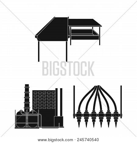 Equipment And Machine Black Icons In Set Collection For Design.technical Progress Of The Factory Vec