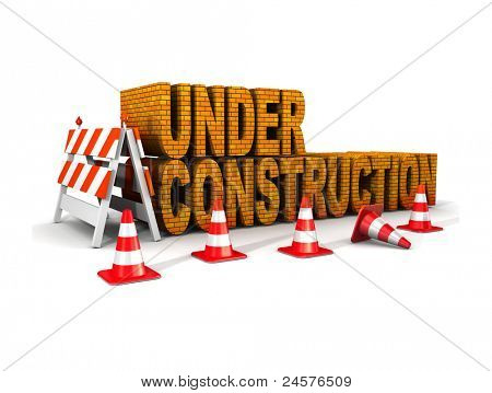 under construction! with traffic cones