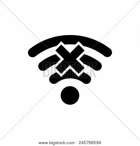 Wireless Icon, Simple Vector Illustration
