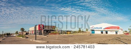 Botshabelo, South Africa - March 12, 2018: Panorama Of Businesses At The Mall In Botshabelo, A Town