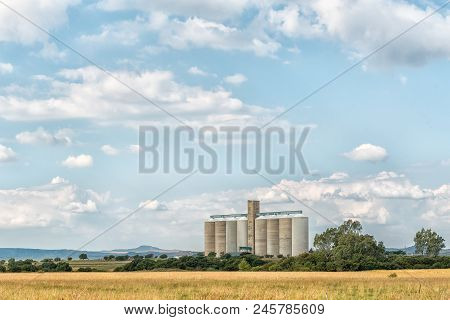 Dewetsdorp, South Africa - April 1, 2018: Grain Silos In Dewetsdorp In The Free State Province
