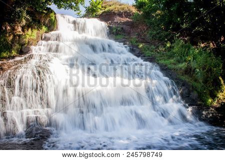 Dzhurinsky Waterfall - A Waterfall On The River Dzhurin In Zaleschitsky District Of Ternopil Region