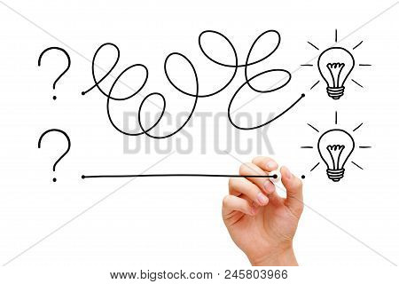 An Innovative Idea Starts With A Question, But There Are Different Ways To Acheve It. Hand Drawing A