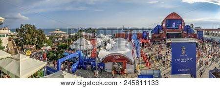 Sochi, Russia - June 16, 2018: Square For Fans Of Football.