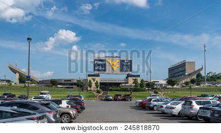 Morgantown, Wv - 17 June 2018: Milan Puskar Stadium For Mountaineers In Morgantown West Virginia