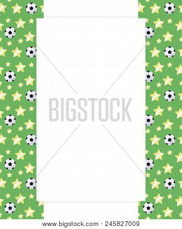 Football Children's Sports Card Reading And Writing A Letter With A Blank Space Middle For Writing T