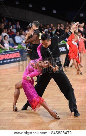 Dance Latin Couple In A Dance Pose