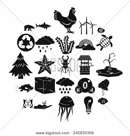 Terra icons set. Simple set of 25 terra vector icons for web isolated on white background poster