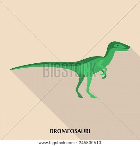 Dromeosauri Icon. Flat Illustration Of Dromeosauri Vector Icon For Web Design
