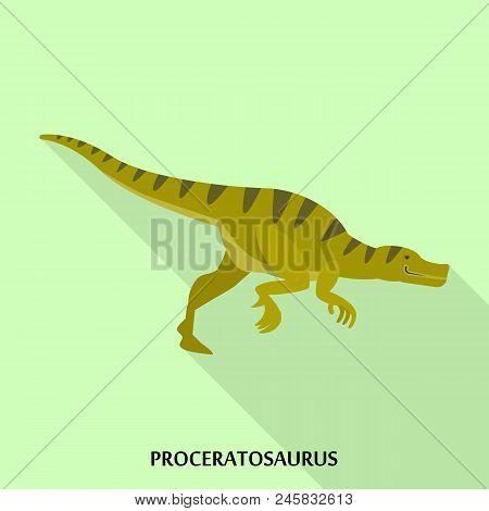 Proceratosaurus Icon. Flat Illustration Of Proceratosaurus Vector Icon For Web Design
