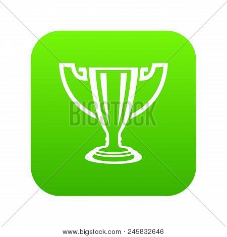 Trophy Icon. Simple Illustration Of Trophy Vector Icon For Web