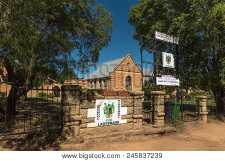 Ladybrand, South Africa - March 12, 2018: The Historic High School In Ladybrand, A Town In The Easte