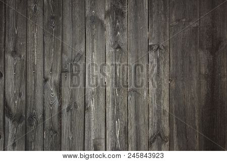 Grey Wooden Fence - Background Textural Grey Rustic Wooden Fence