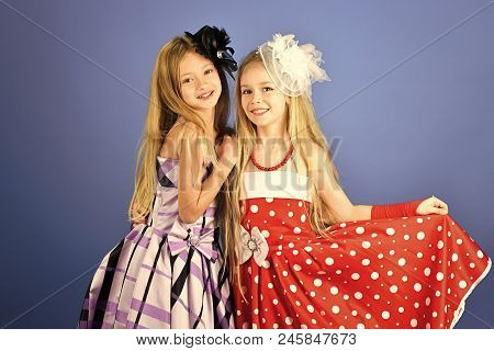 Family Fashion Model Sisters, Beauty. Fashion And Beauty, Little Princess. Friendship, Look, Hairdre