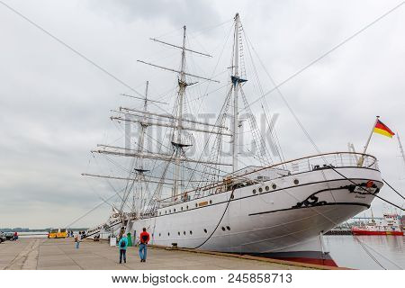 Gorch Fock I In The Port Of Stralsund, Germany