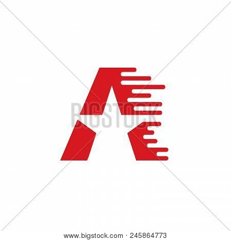 A Letter Logo Design Vector Illustration Template, A Letter Logo Vector, Creative Letter A Letter Lo