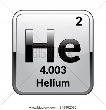 Helium symbolemical element vector photo bigstock helium symbolemical element of the periodic table on a glossy white background in a silver framector illustration urtaz Choice Image
