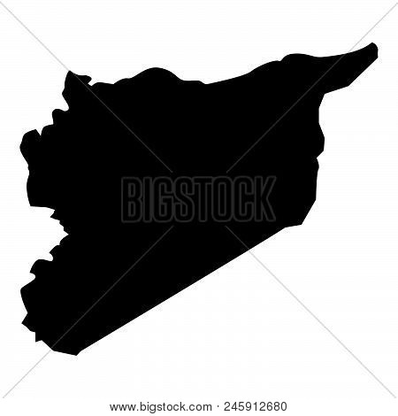 Map Of Syria Icon Black Color Vector Illustration Flat Style Simple Image