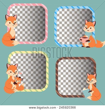 Fox Cute Adorable Character Doing Different Activities Funny Happy Nature Red Tail And Wildlife Oran