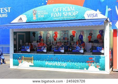 St. Petersburg, Russia - June 18, 2018: Fifa World Cup Russia 2018 Fan Fest. Football World Cup 2018
