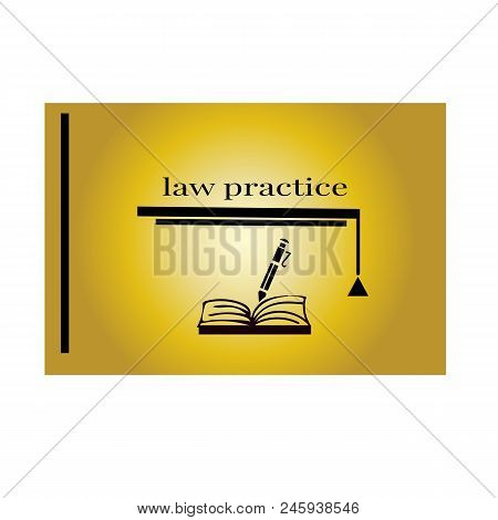 Justice Law Firm Book Vector Logo Design Template
