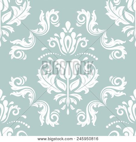 Classic Seamless White Pattern. Traditional Orient Ornament. Classic Vintage Background