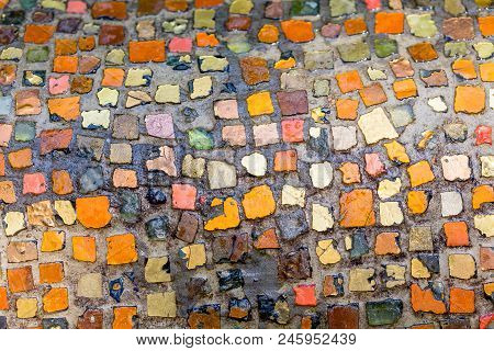 Colorful Mosaic Stones In The Great Garden Of Dresden