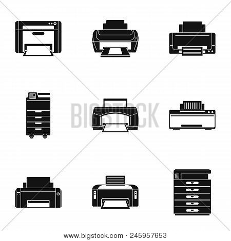 Office Technical Specialist Icons Set. Simple Set Of 9 Office Technical Specialist Vector Icons For