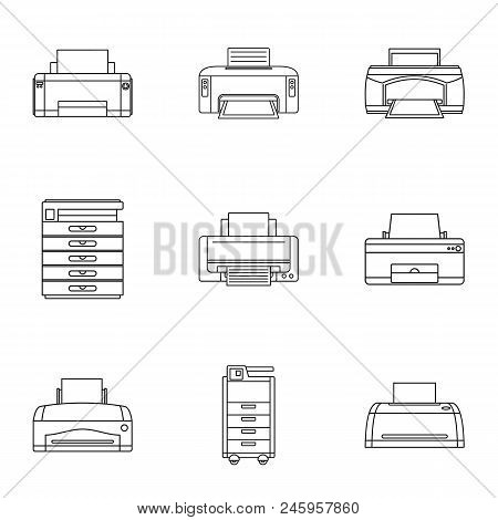 Technical Specialist Icons Set. Outline Set Of 9 Technical Specialist Vector Icons For Web Isolated