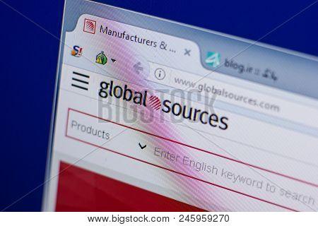 Ryazan, Russia - June 16, 2018: Homepage Of Globalsources Website On The Display Of Pc, Url - Global